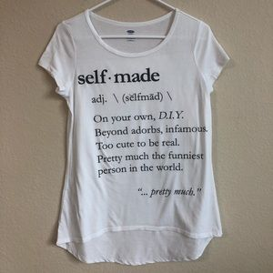 Old Navy Self Made High Low Short Sleeve T-Shirt